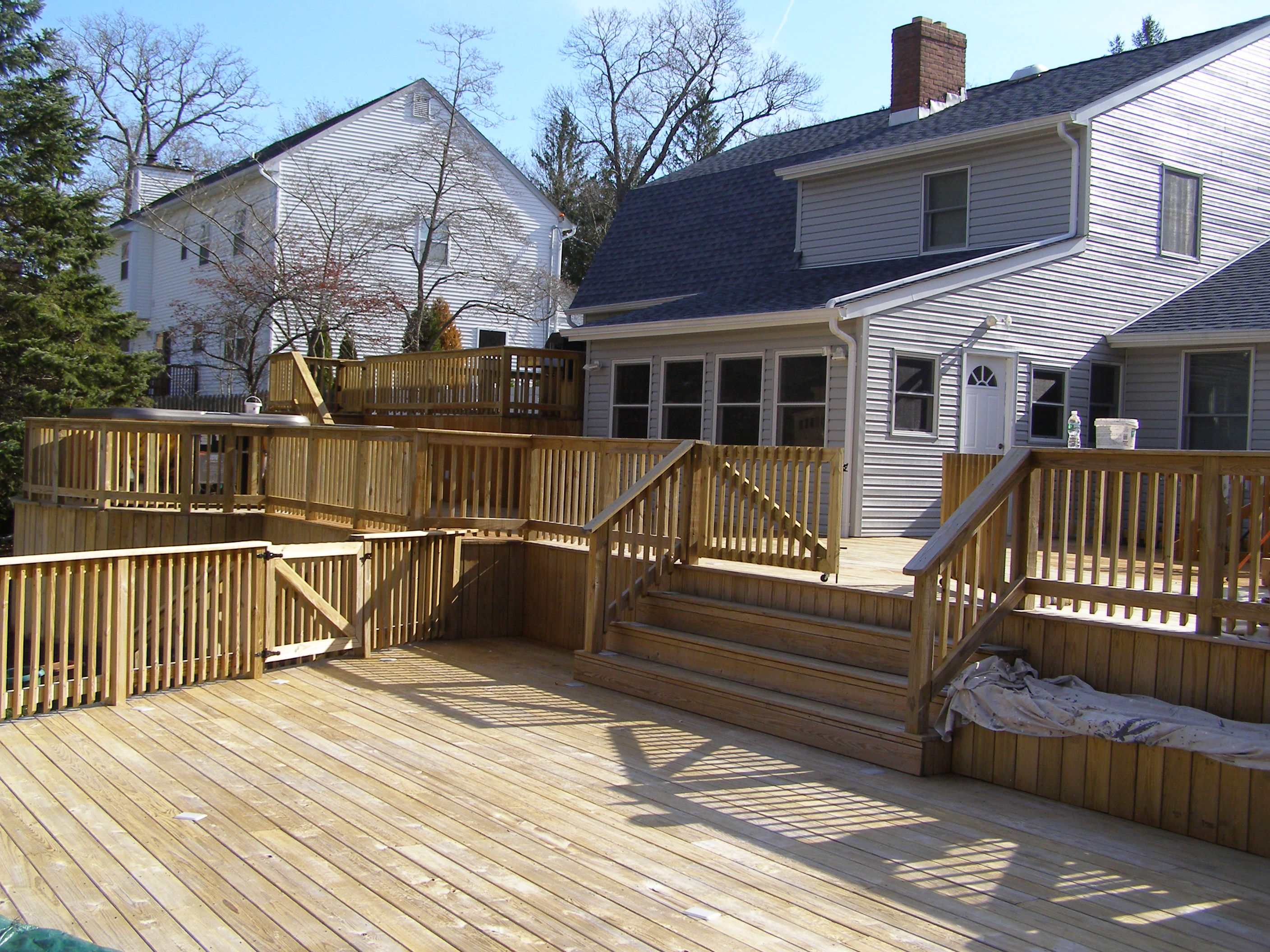 Deck before deck restoration.