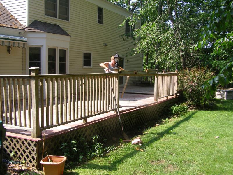 Deck restoration and repair.